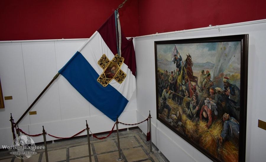 копие на Самарското знаме – първото бойно знаме на Българското опълчение
