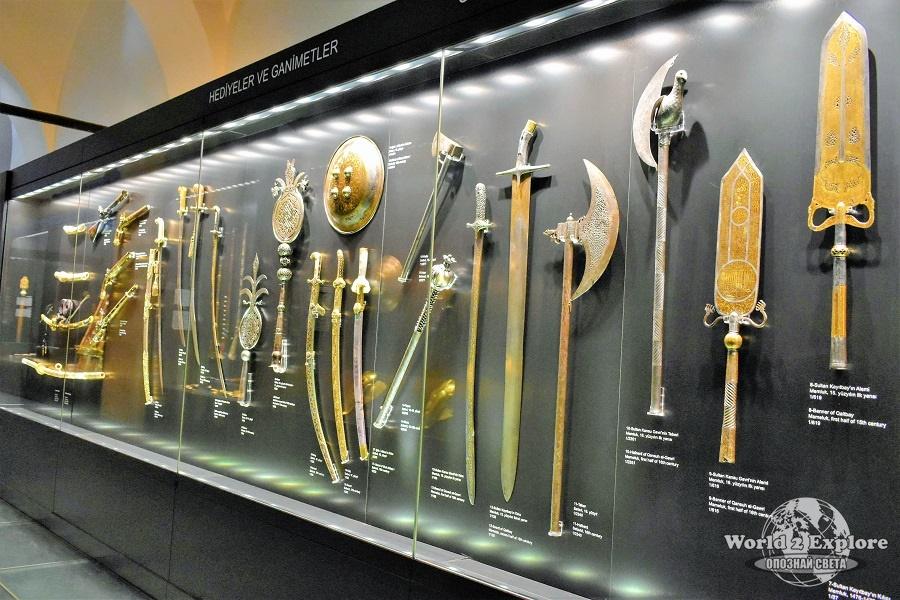 Част от изложените османски оръжия,